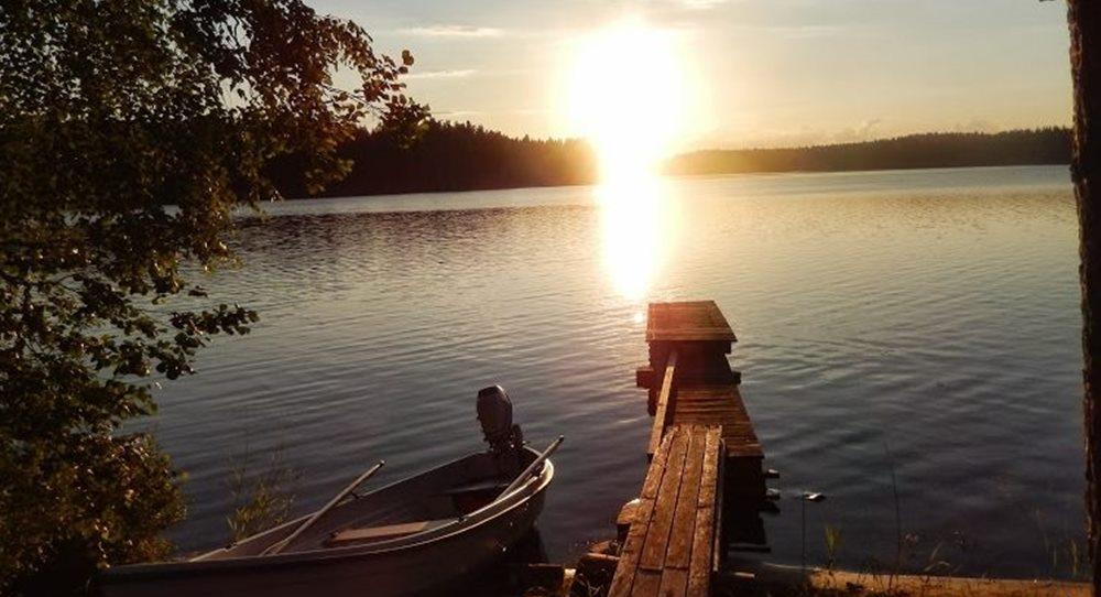Коттедж на озере Сайма, с баней