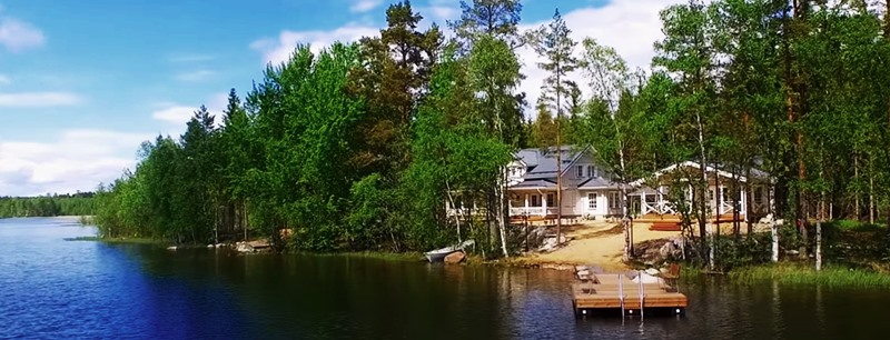 Снять коттедж в Финляндии у озера