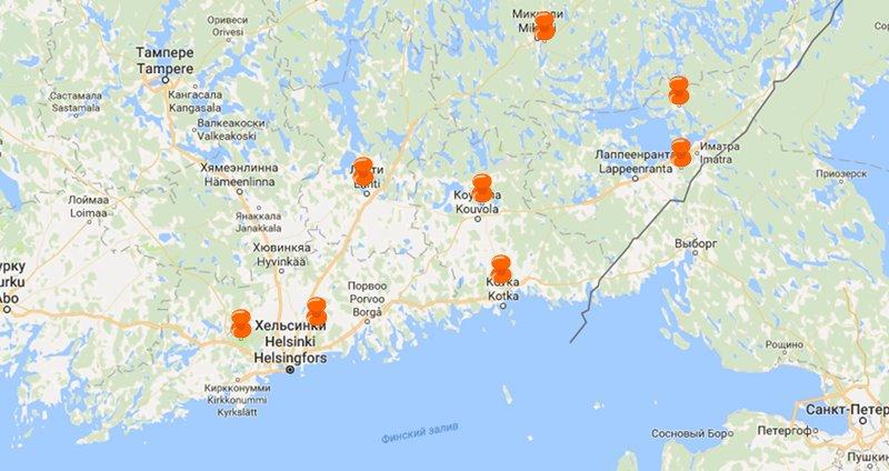 Коттеджи в Финляндии у горнолыжного курорта у границы