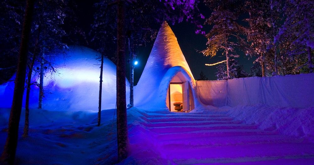 Ледяной мир снеговиков Санты Рованиеми