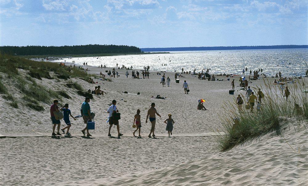 Пляж Yyteri. Балтийское побережье Финляндии
